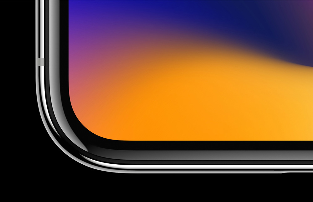 The Super Retina display employs new techniques and technology to precisely follow the curves of the design, all the way to the elegantly rounded corners
