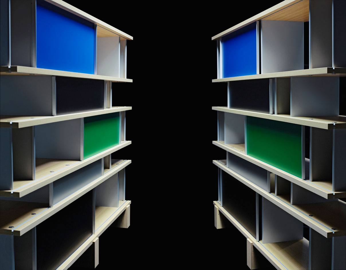 'Nuage' bookcase, by Charlotte Perriand for Cassina photographed by Karl Lagerfeld