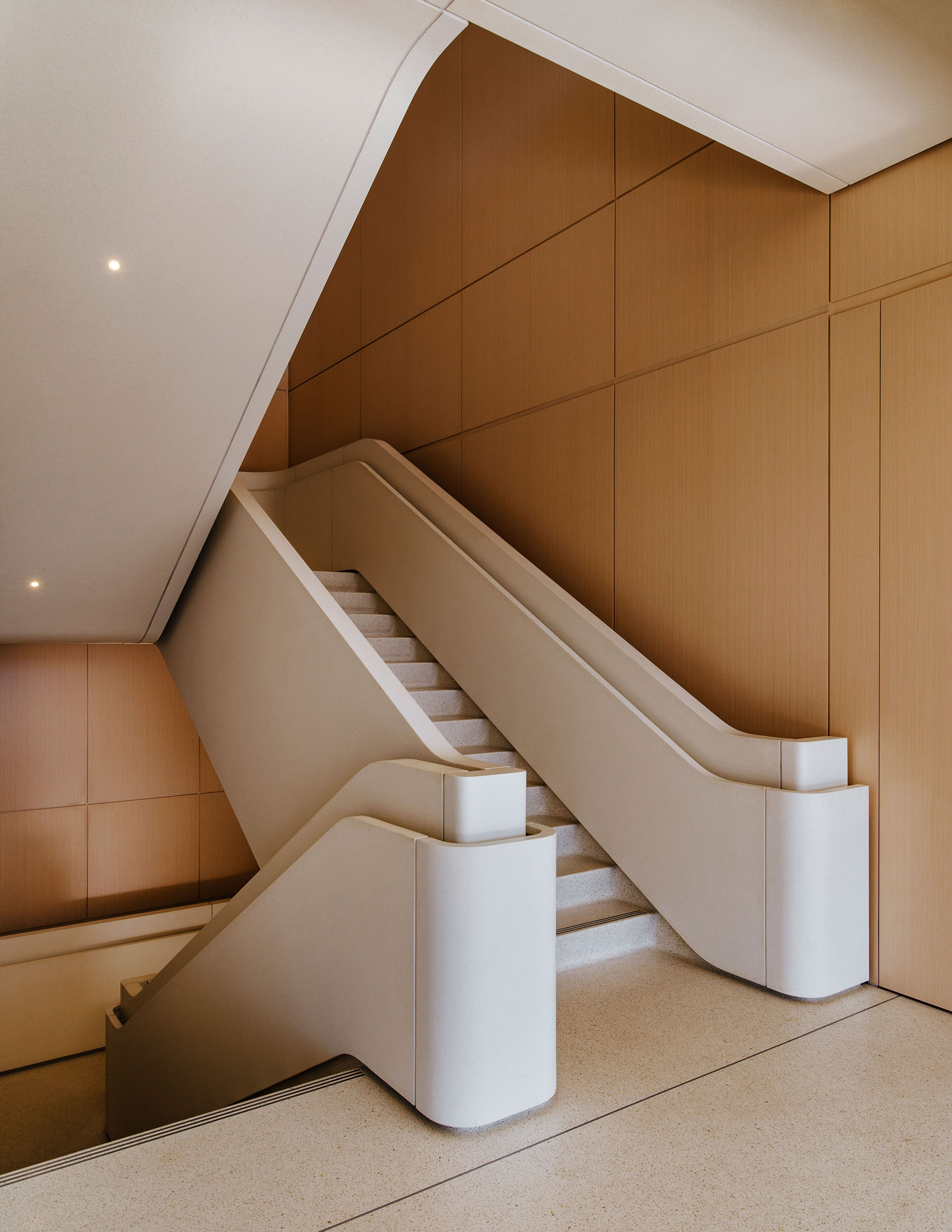 Staircase inside Apple's Foster + Partners designed Cupertino headquarters