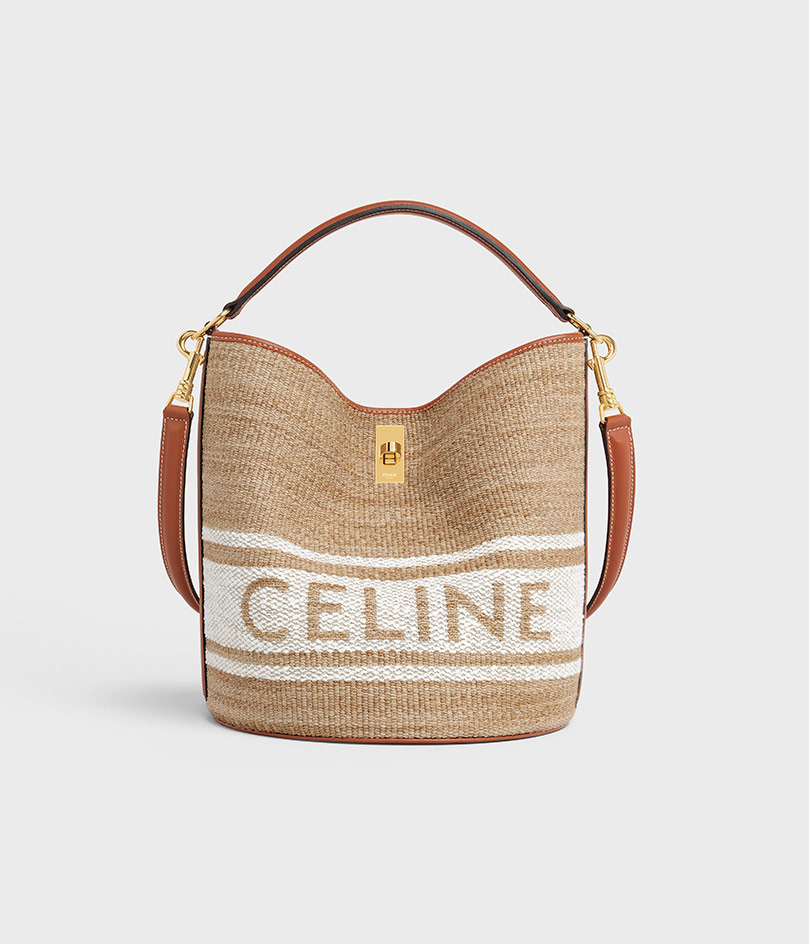 Basket bags with logo by Celine