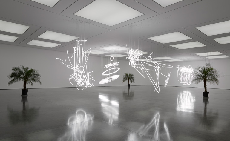 Glow With The Flow Cerith Wyn Evans Sets White Cube Bermondsey Alight
