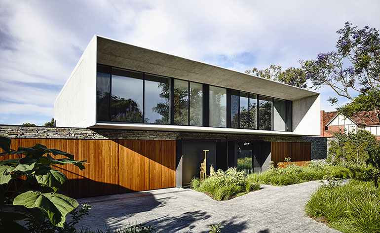 Interactive tour modern melbourne retreat wallpaper for Architectural house plans australia