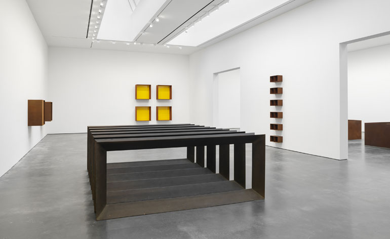 Donald Judd S Cor Ten Steel Sculptures On Show Wallpaper