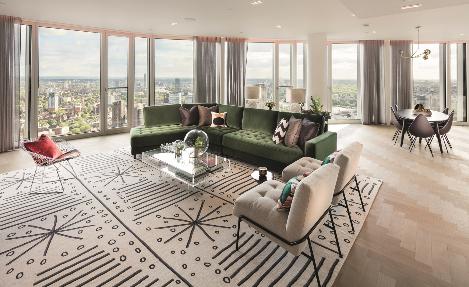 South bank tower 39 s refitted interiors revealed wallpaper for London interiors