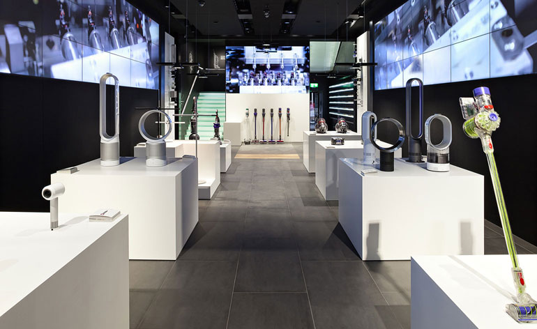 wilkinsoneyre 39 s dyson showroom opens on oxford street wallpaper. Black Bedroom Furniture Sets. Home Design Ideas