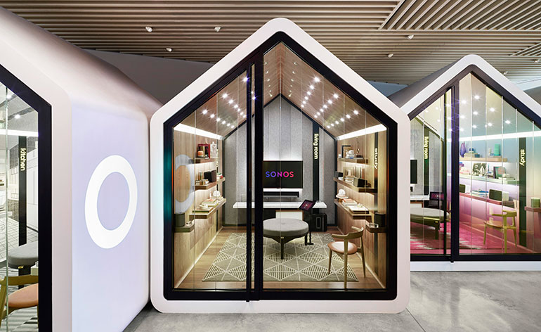 sonos unveils new york concept store wallpaper. Black Bedroom Furniture Sets. Home Design Ideas