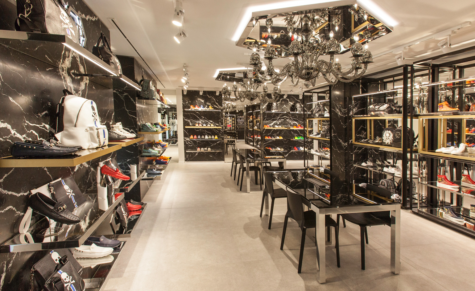 phillip plein opens a theatrical showroom in milan
