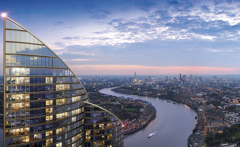 Spire London: tallest residential building in West Europe