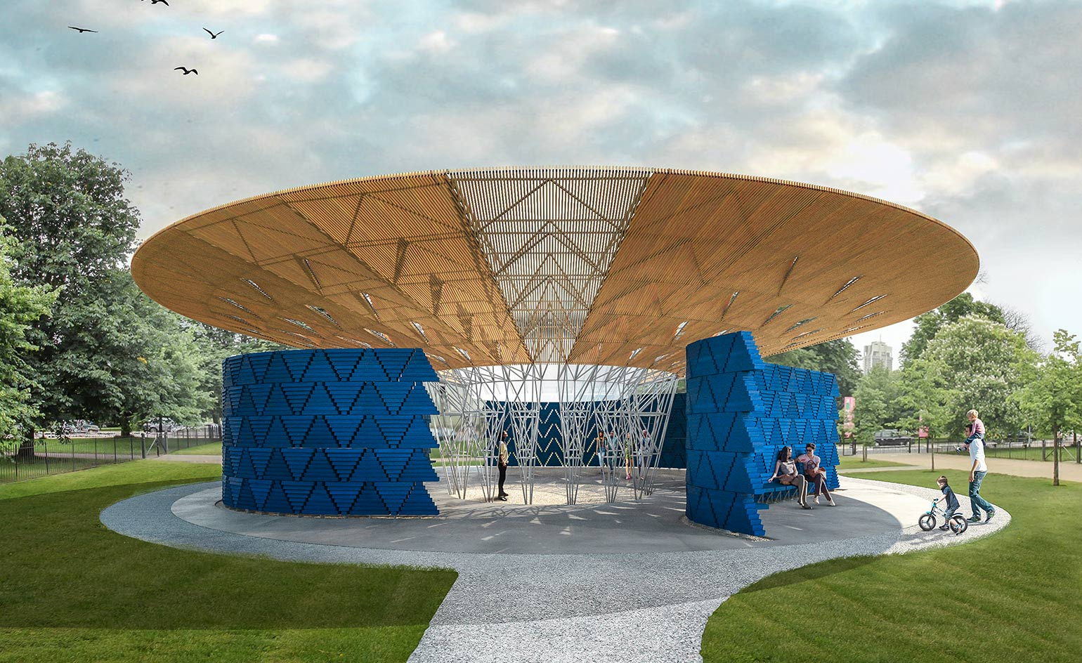 Francis k r to design the 2017 serpentine gallery for Pavilion architecture design