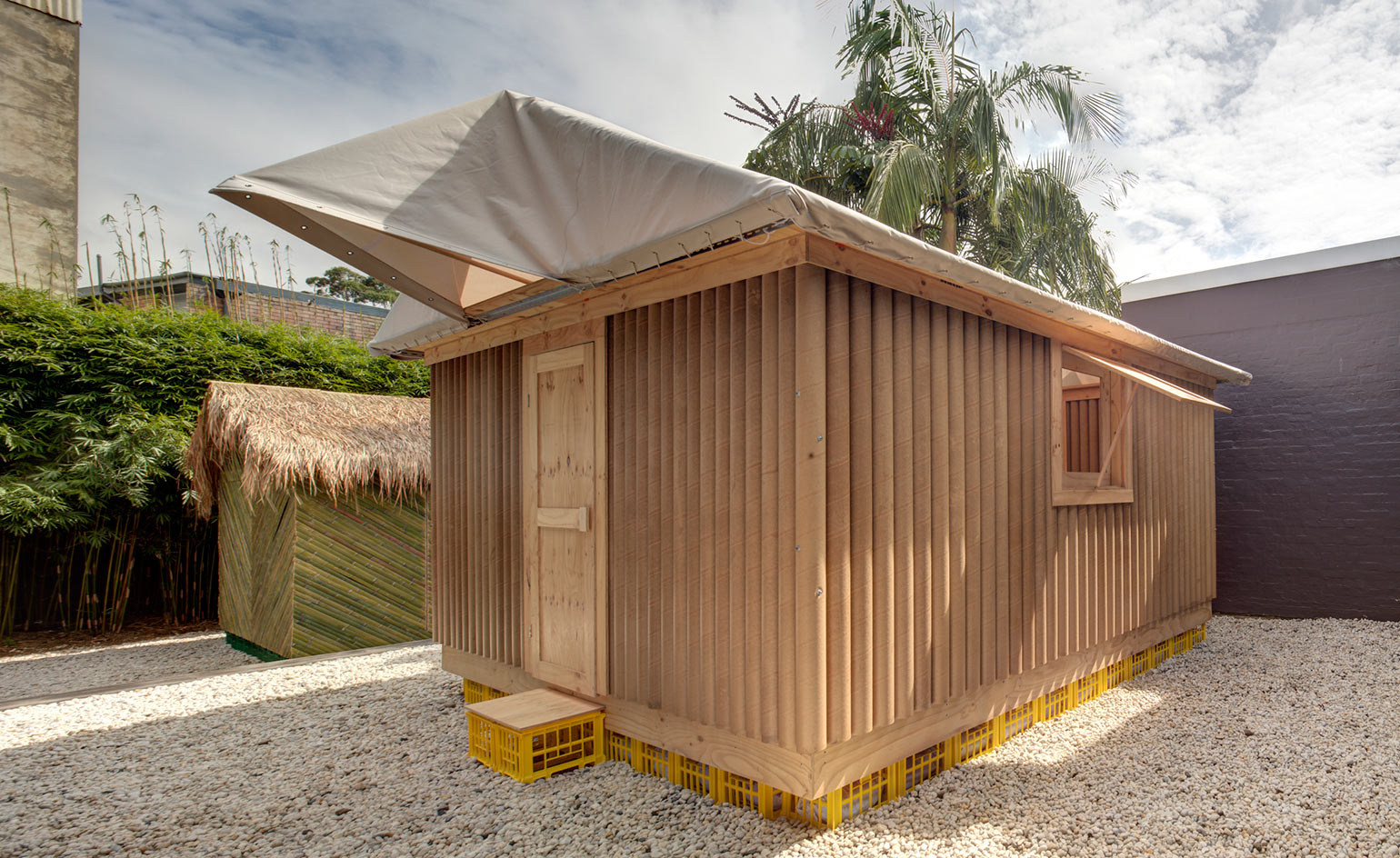 shigeru ban 39 s first australian exhibition goes on view in sydney wallpaper. Black Bedroom Furniture Sets. Home Design Ideas