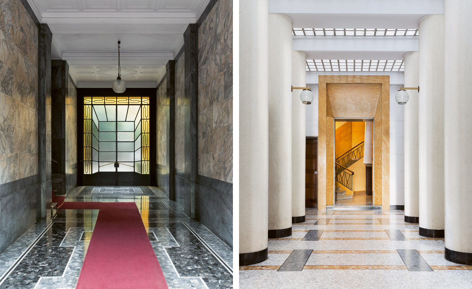 Making An Entrance Milan S Sumptuous Modernist Hallways