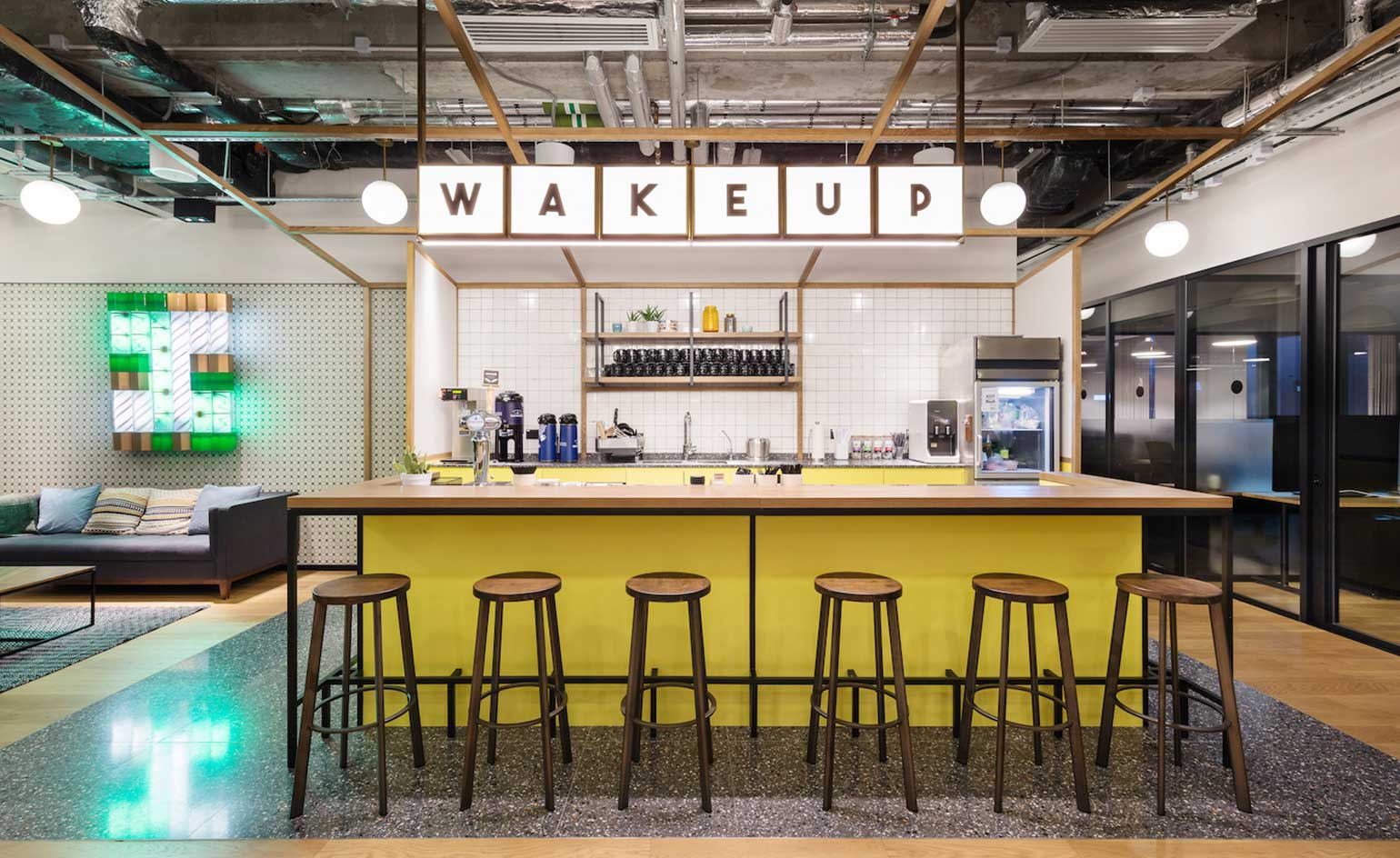 All in a day s work nelson chow designs the new space for wework s hong kong outpost wallpaper Kitchen design companies hong kong