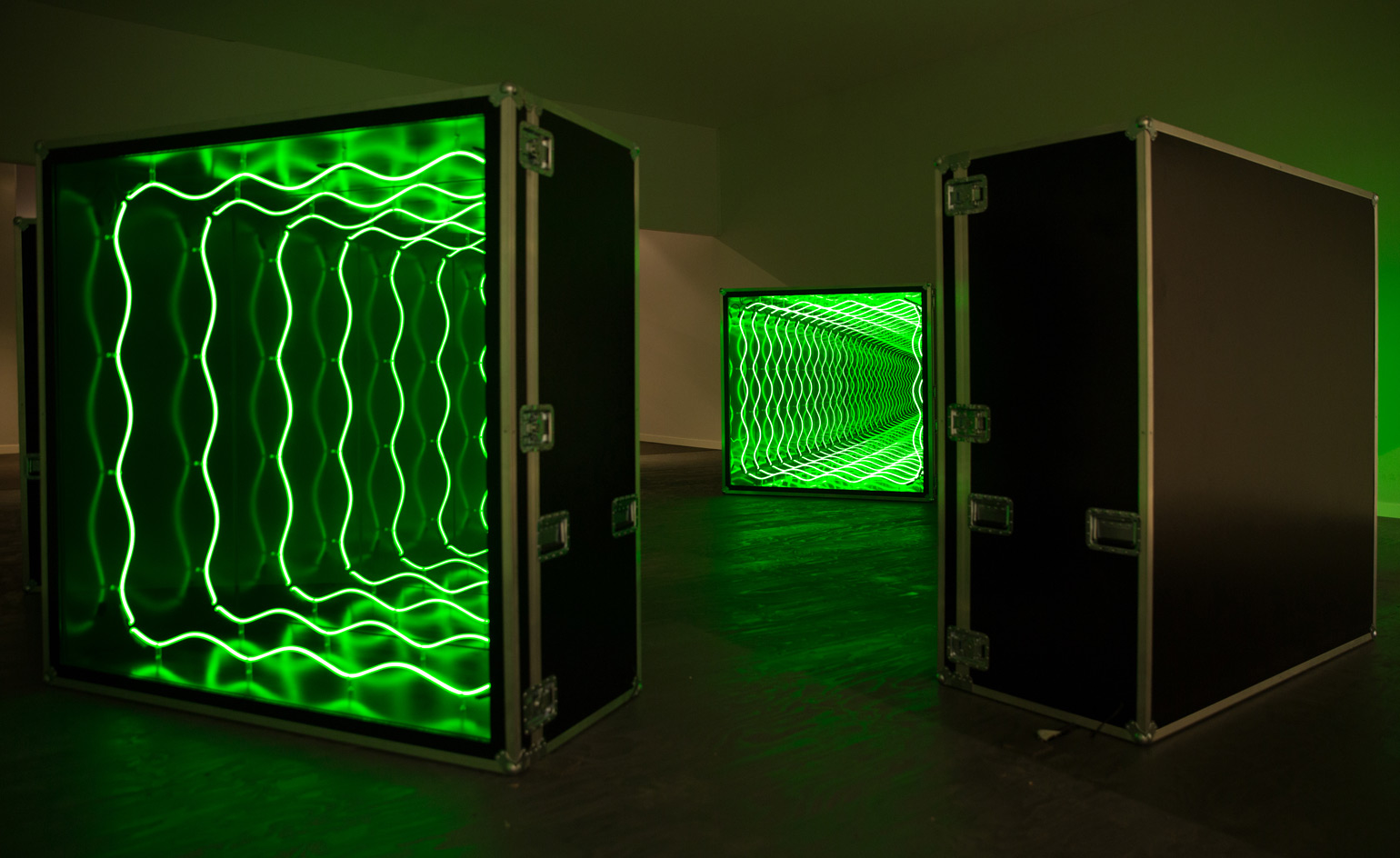 Infinity And Beyond Ivan Navarro S Installation Throws