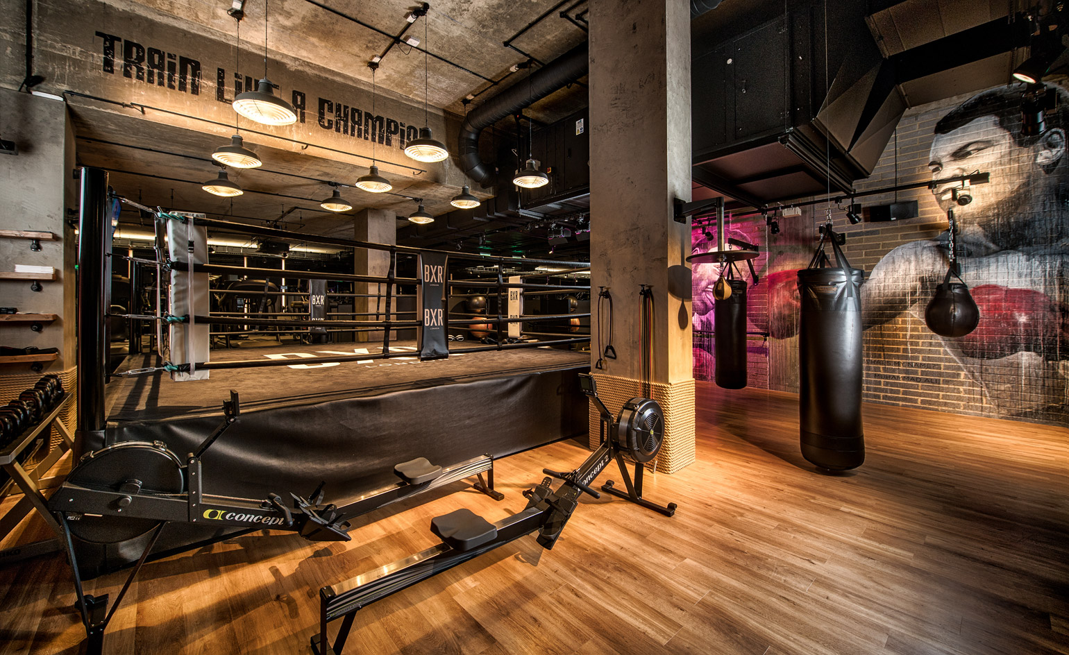 Loft Bedroom Designs Bergman Interiors Packs A Punch At Boutique Boxing Gym