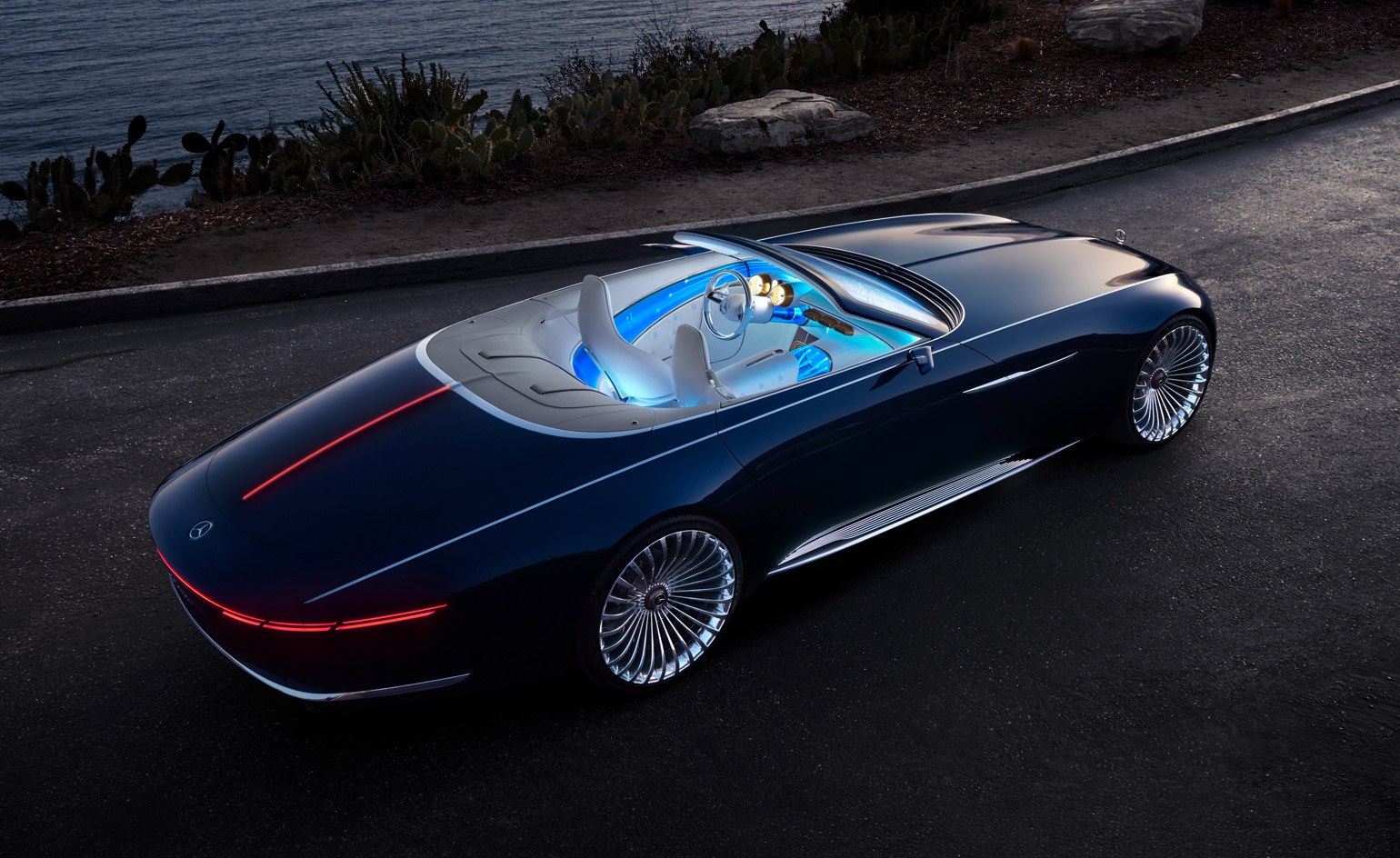 first look the vision mercedes maybach 6 cabriolet wallpaper. Black Bedroom Furniture Sets. Home Design Ideas