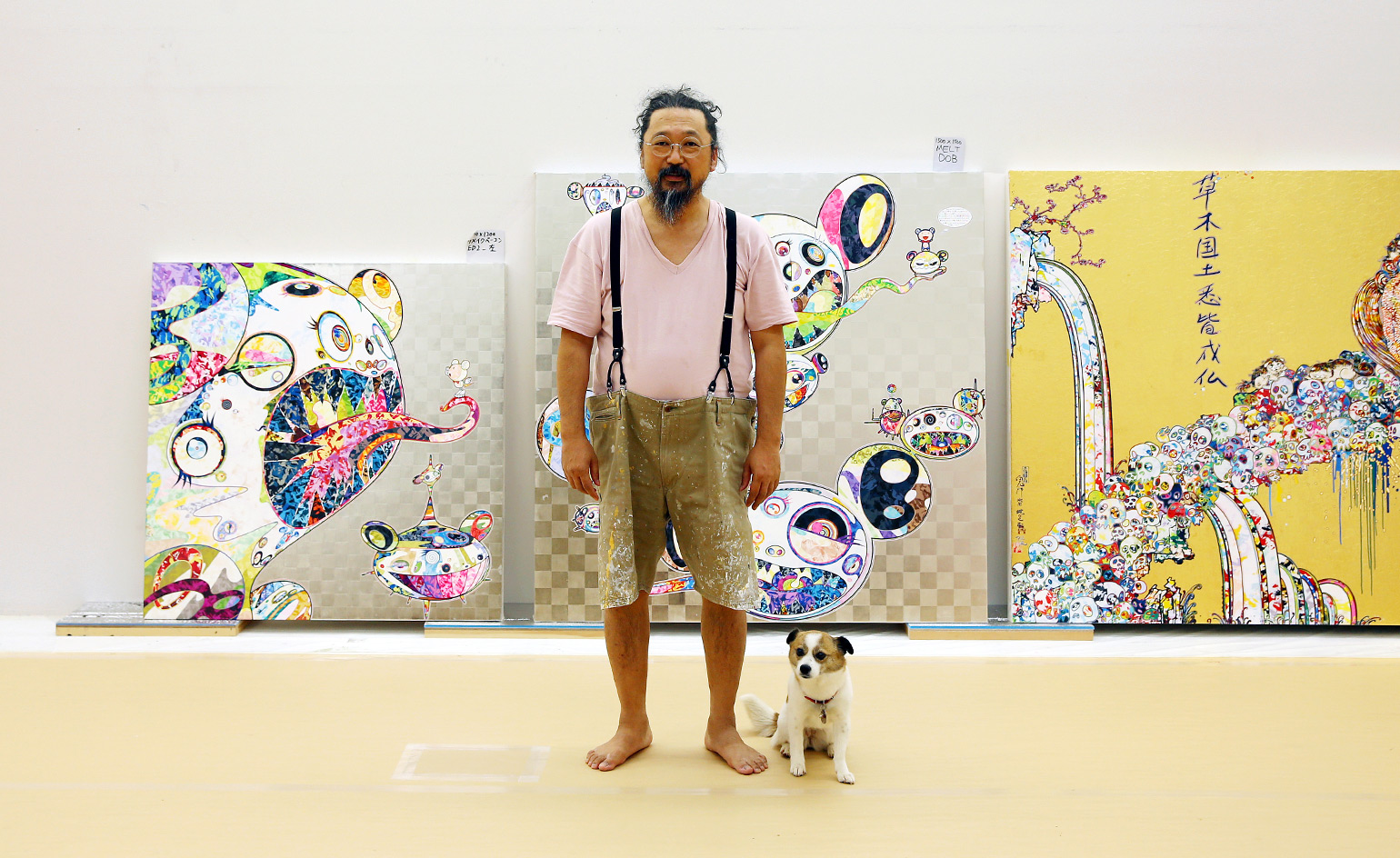 in the studio with takashi murakami ahead of his moscow show