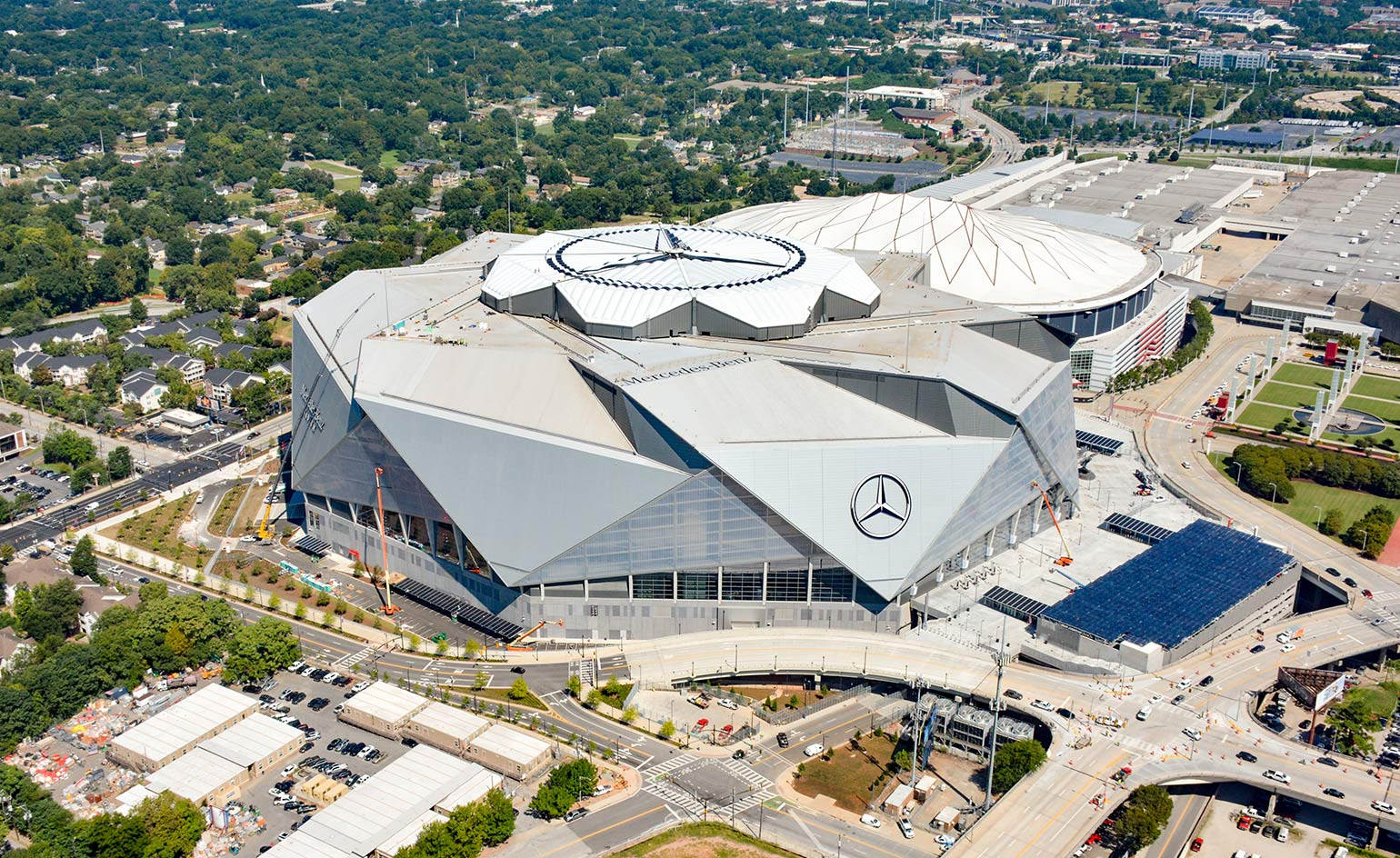 Hok completes the mercedes benz stadium in atlanta for Atlanta ga mercedes benz stadium