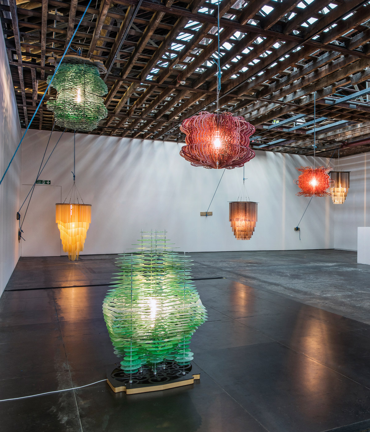 Jorge Pardo Lights Up Victoria Miro With Laser Cut Lamps