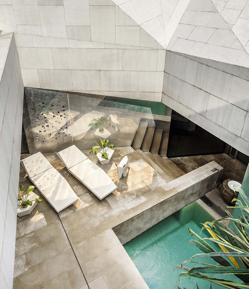 In residence agi architects 39 origami house in kuwait for Home wallpaper kuwait