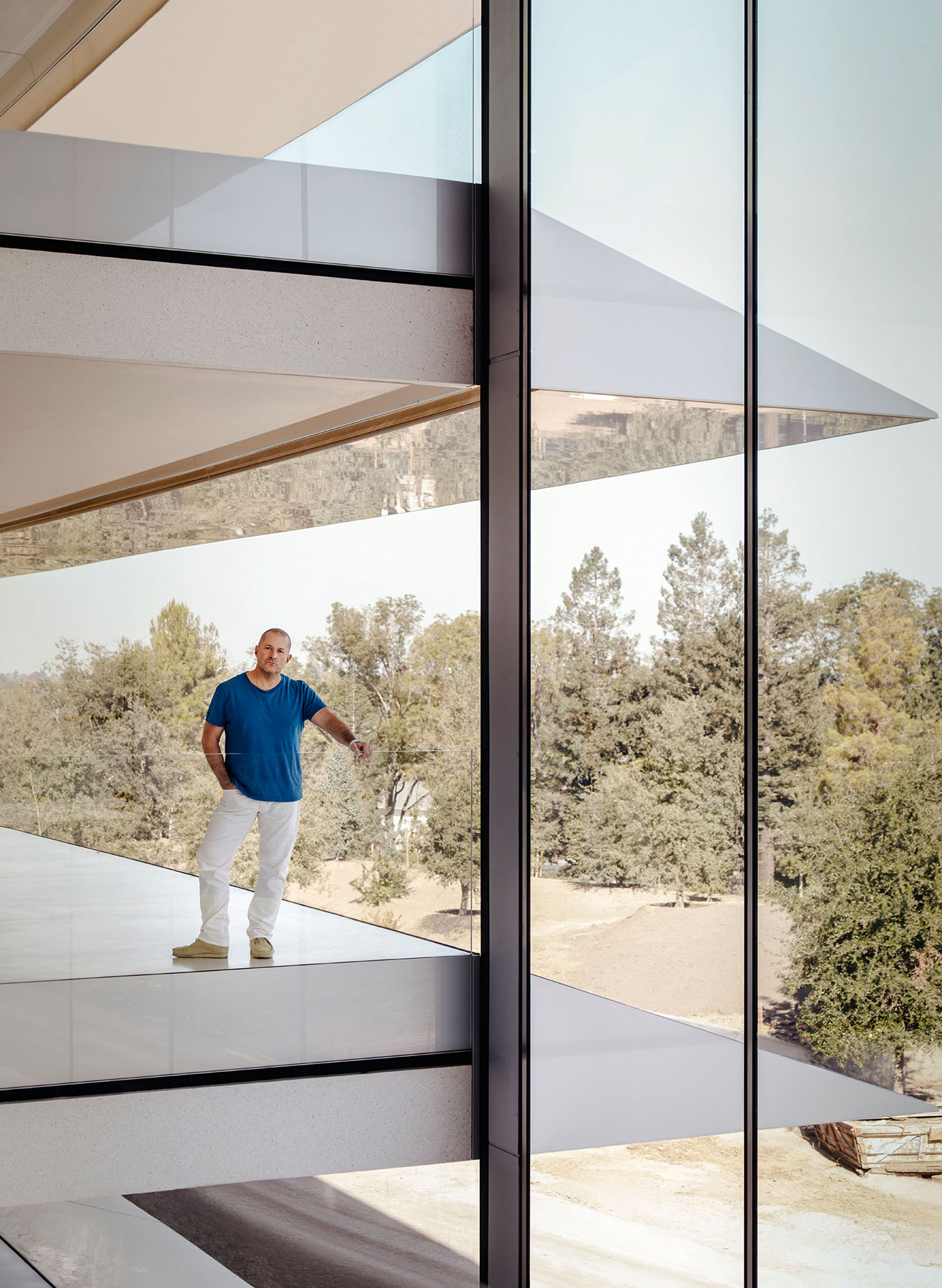 Apple's chief design officer Jony Ive in the Foster + Partner designed Cupertino headquarters