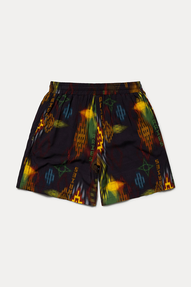 Surf style inspired patterned board shorts by Aries