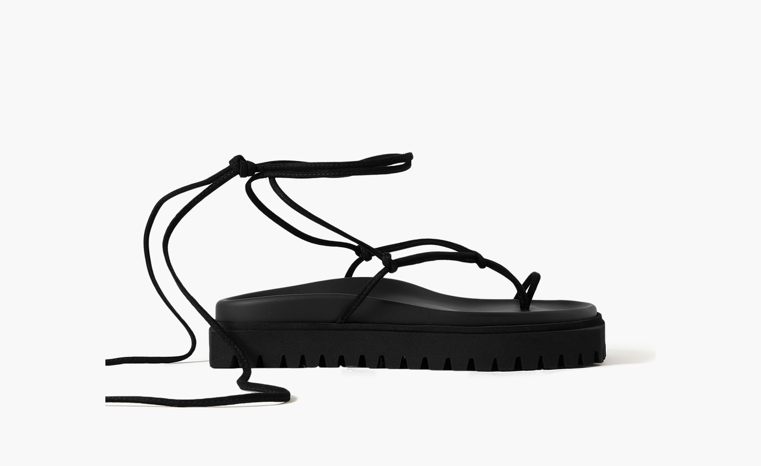 Summer sandals in black strappy style by The Attico