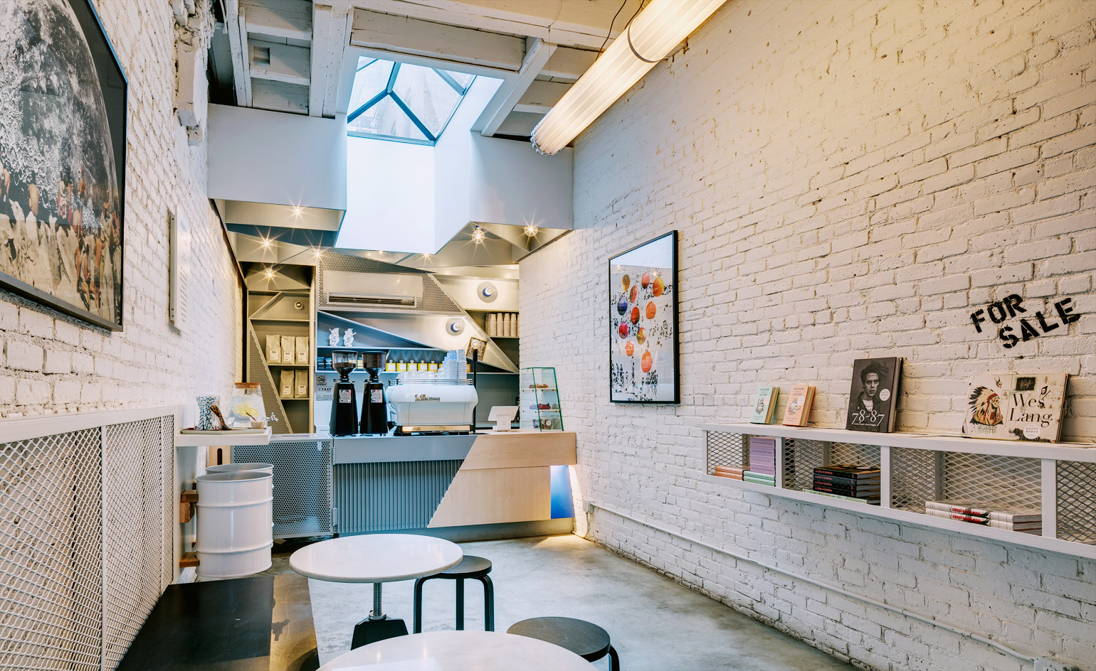 The best nyc coffee shops for architecture and design lovers wallpaper for Small coffee shop interior design
