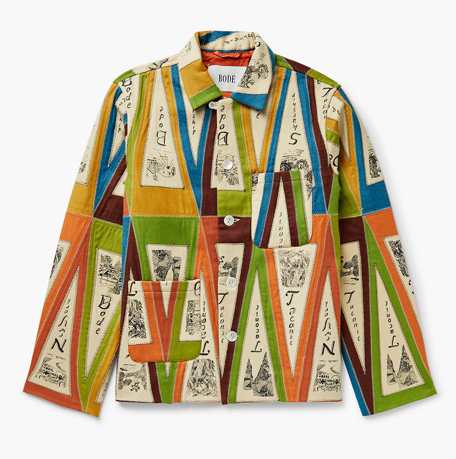 Surf style inspired patchwork jacket by Bode