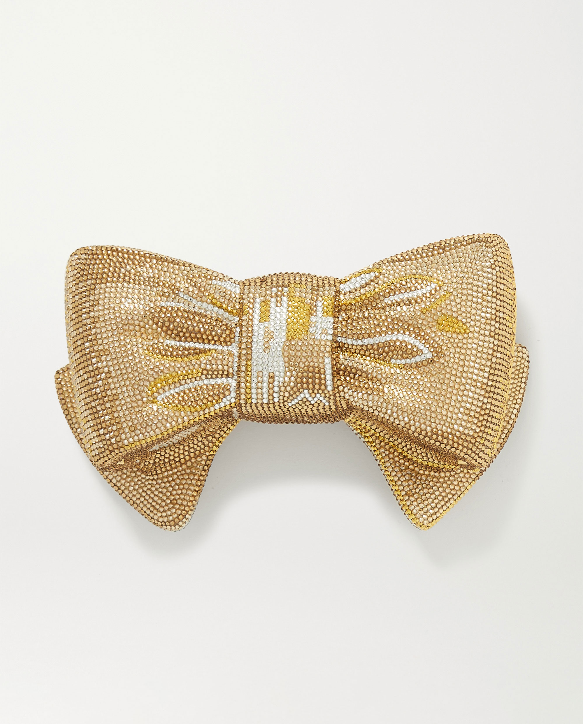 Alternative bridal accessories Bow Just For You clutch bag by Judith Leiber