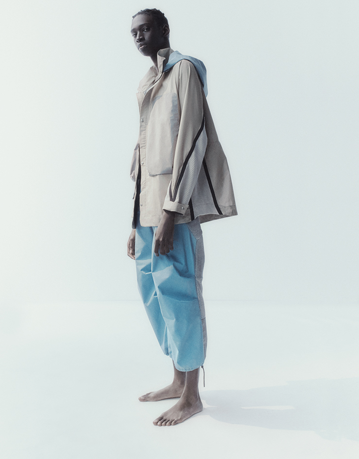 Byborre jacket and trousers worn by male model