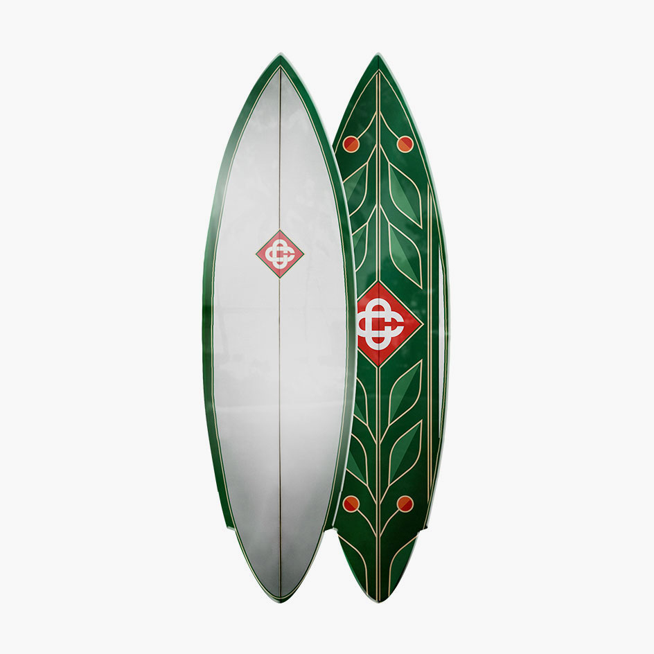 Surf style inspired single fin surfboard by Casablanca