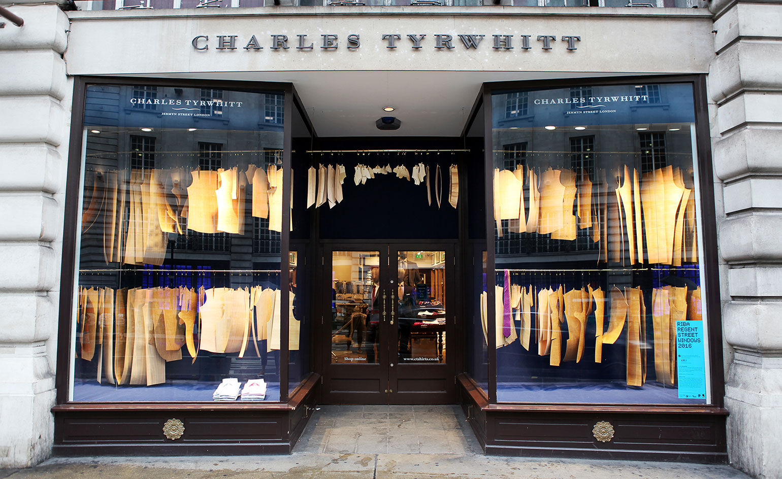 At Charles Tyrwhitt, there are shirt patterns manufactured from British timbers
