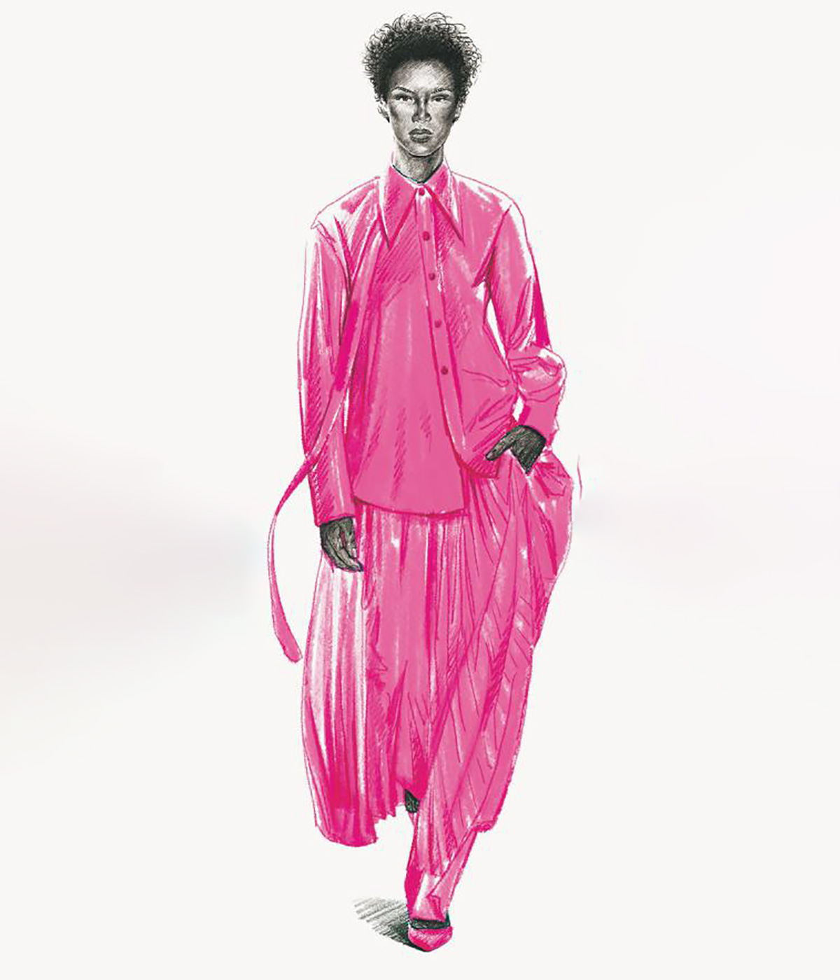 Christopher John Rogers A/W 2020 illustration