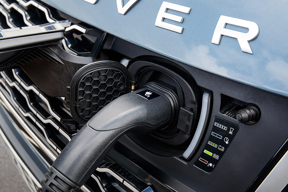 The Charge Dock Is Neatly Hidden Behind Range Rover Badge On Grille