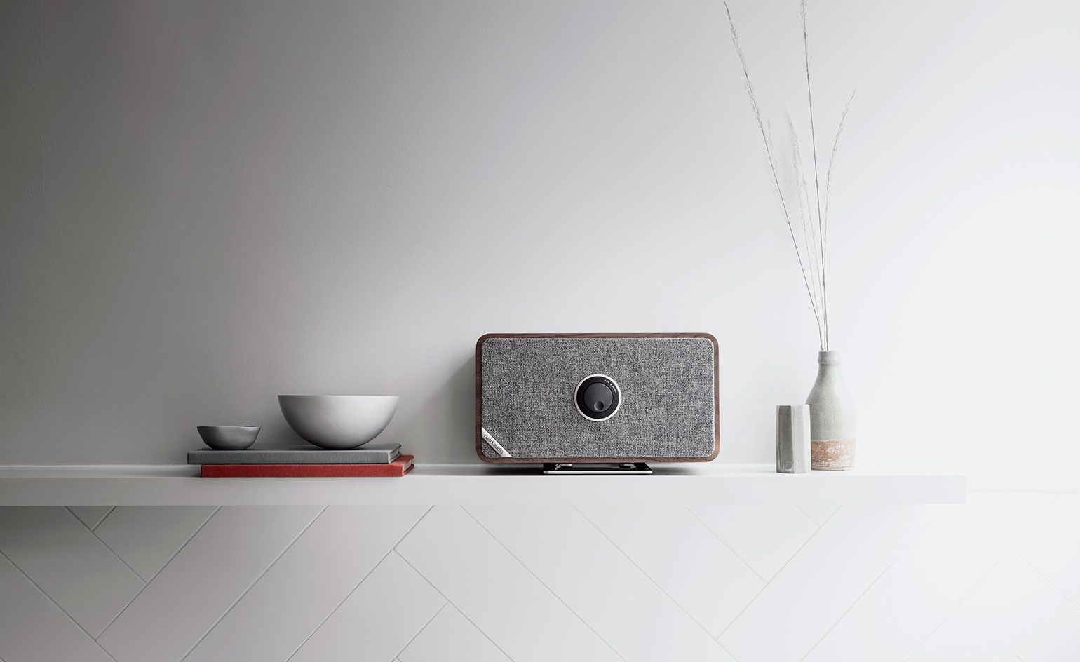 A lifestyle view of Ruark's new connected speaker, the MRx
