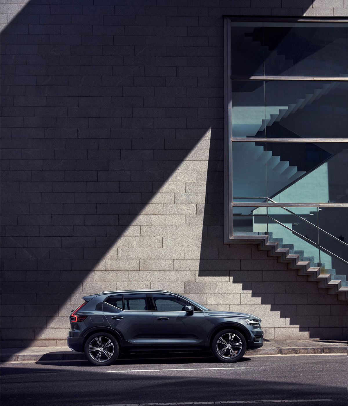 Side view of the Volvo XC40