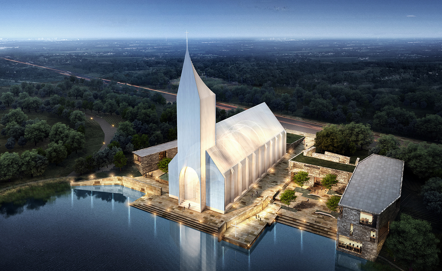 Rsaa reveal design for a zhangjiagang church wallpaper for Latest architecture design