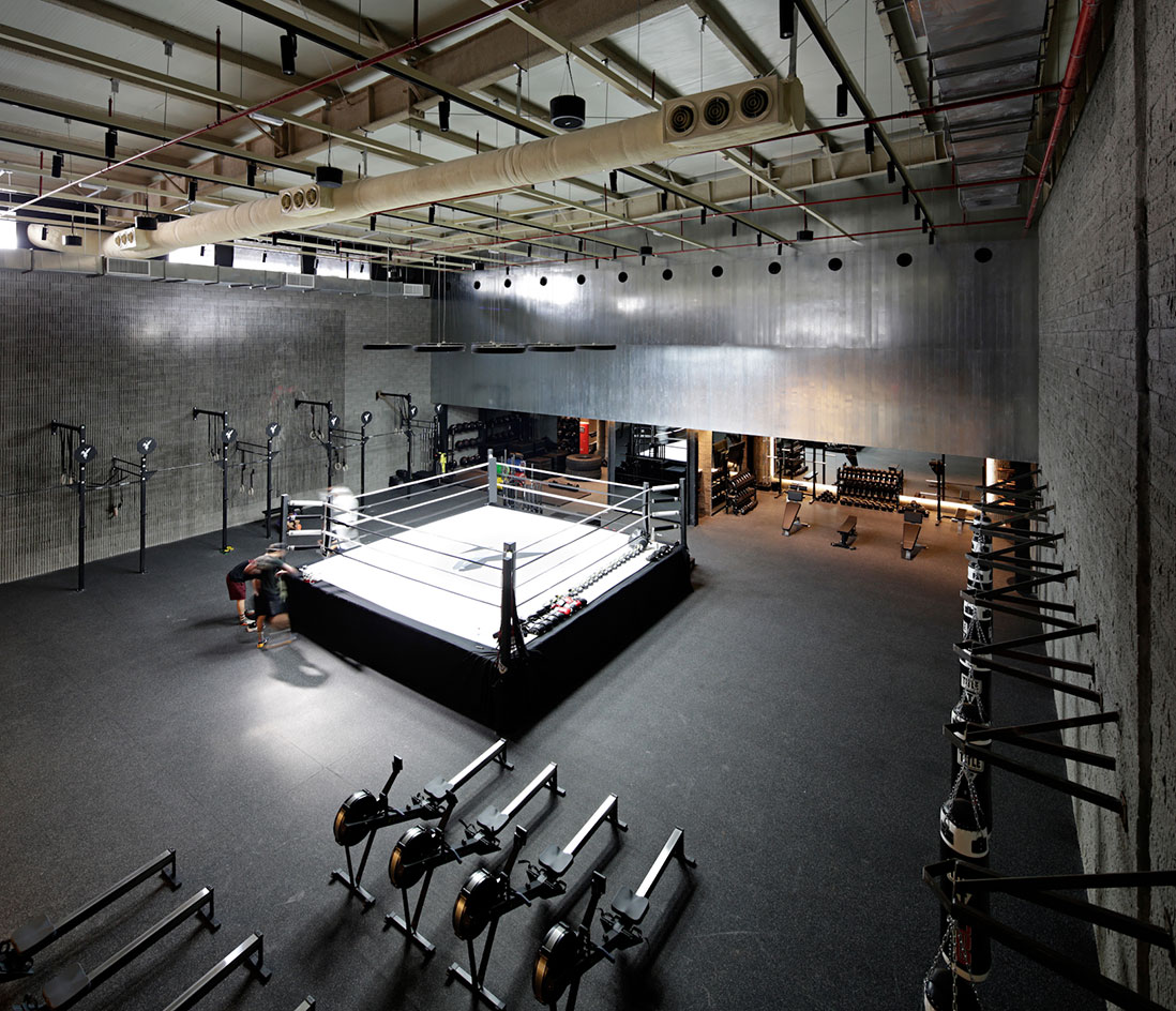 Lab100 Design Kuwait Boxing Studio Wallpaper