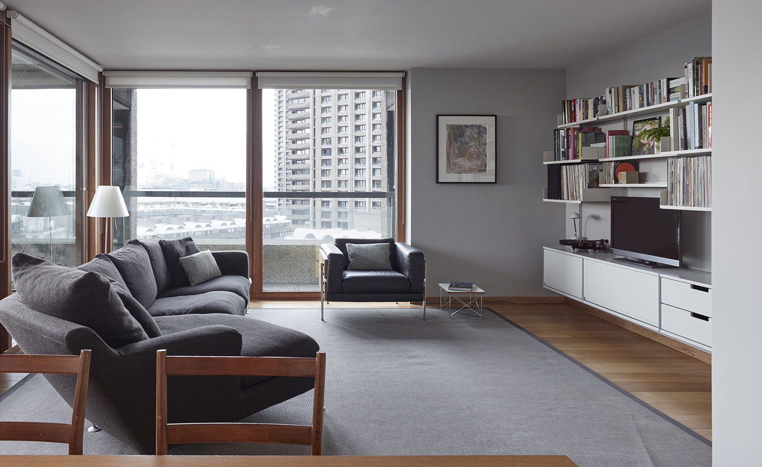 architect laurence quinn renovated barbican apartment