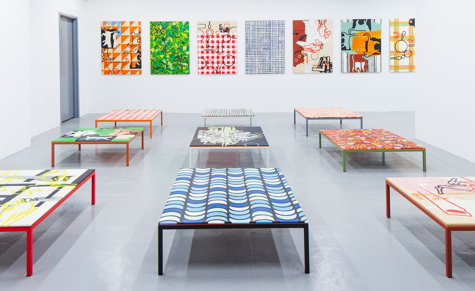 Richard woods presents 39 work tables 39 at friedman benda for Table graphic design