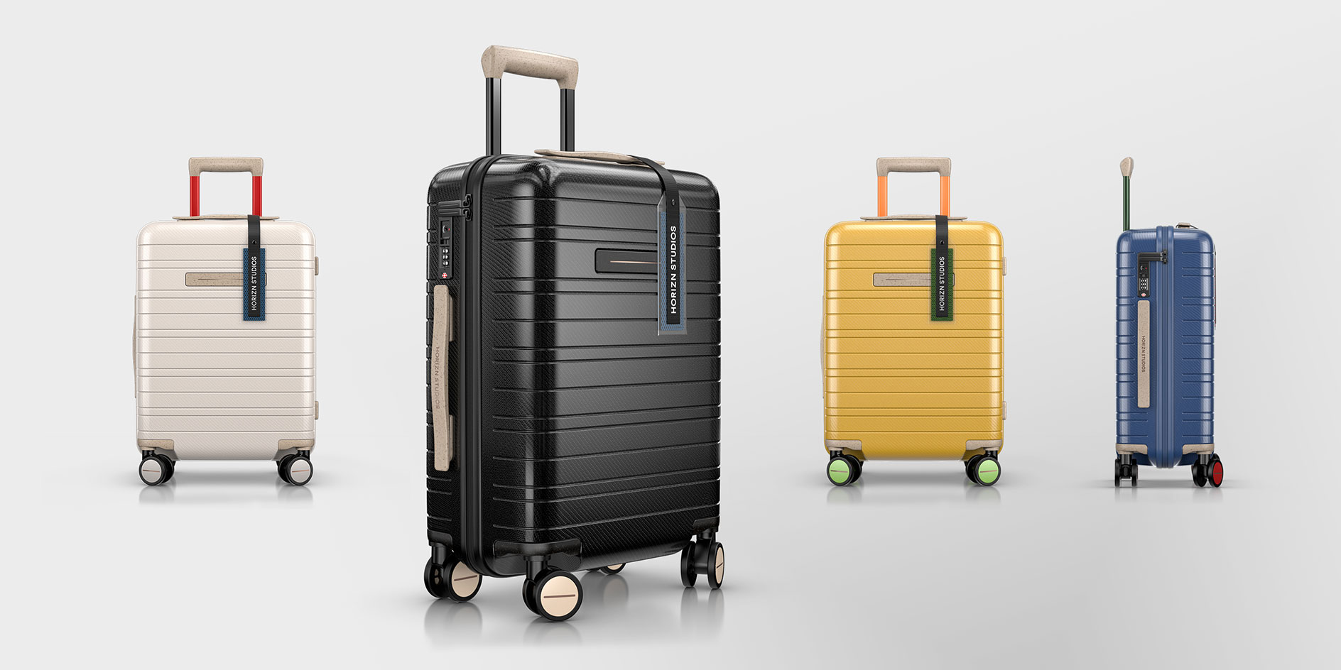 series of Horizn Circle One suitcases