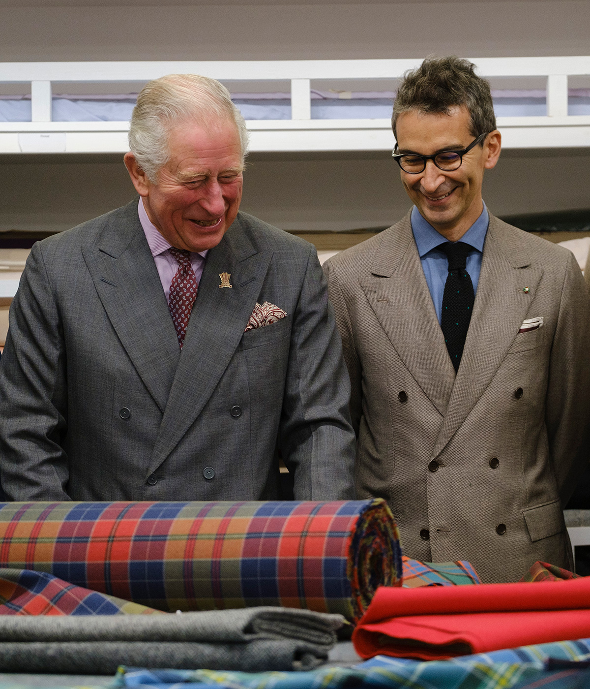 Portrait of HRH The Prince of Wales, Yoox Net-a-porter Group's chairmain and CEO Federico Marchetti.