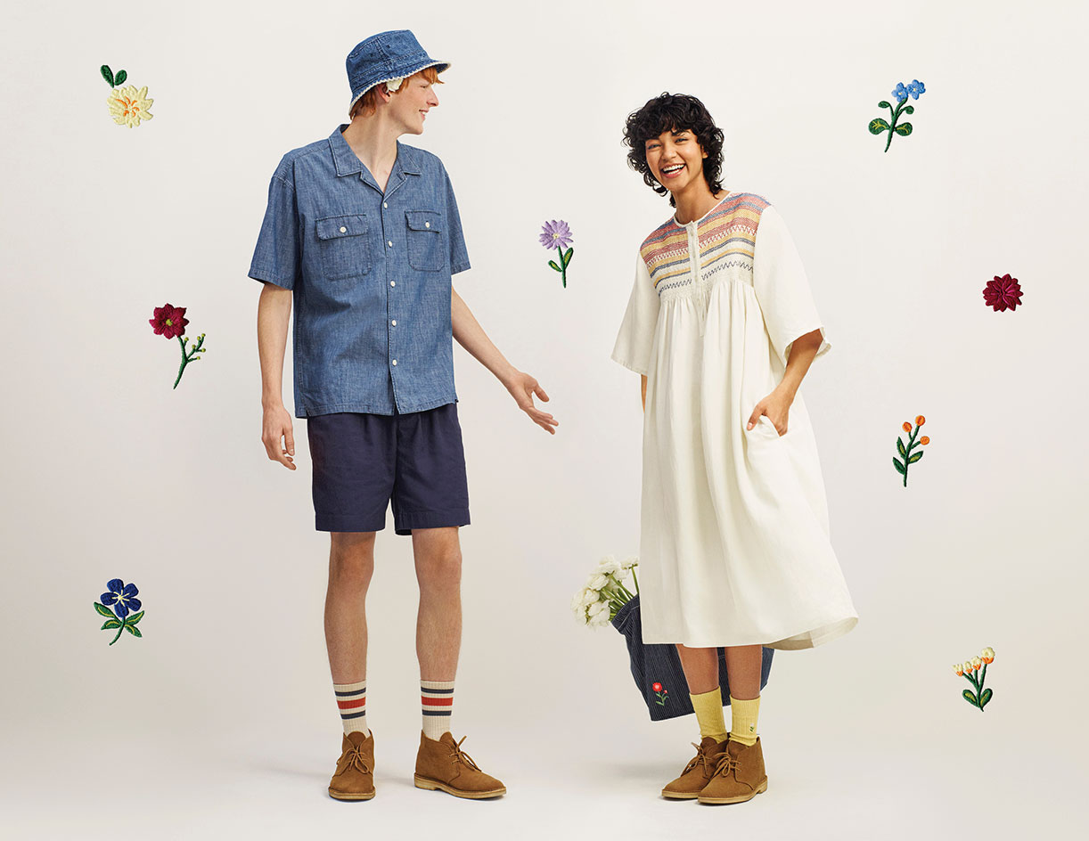 JW Anderson Uniqlo collection chambray shirt and smocked dress