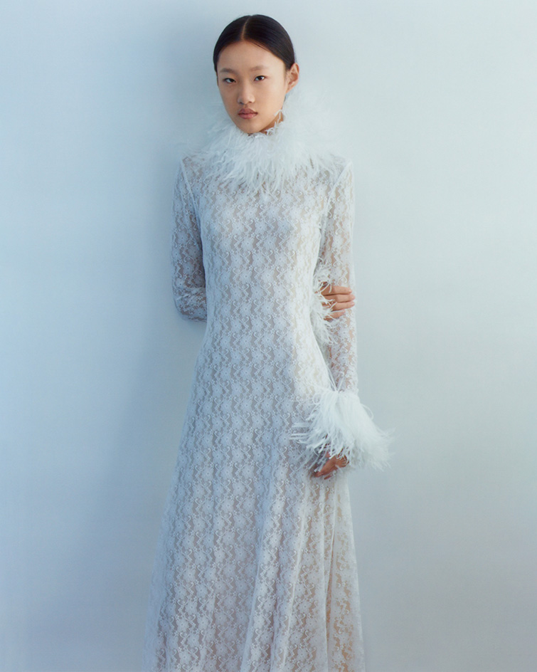 """""""feathered lace dress by christopher kane"""""""