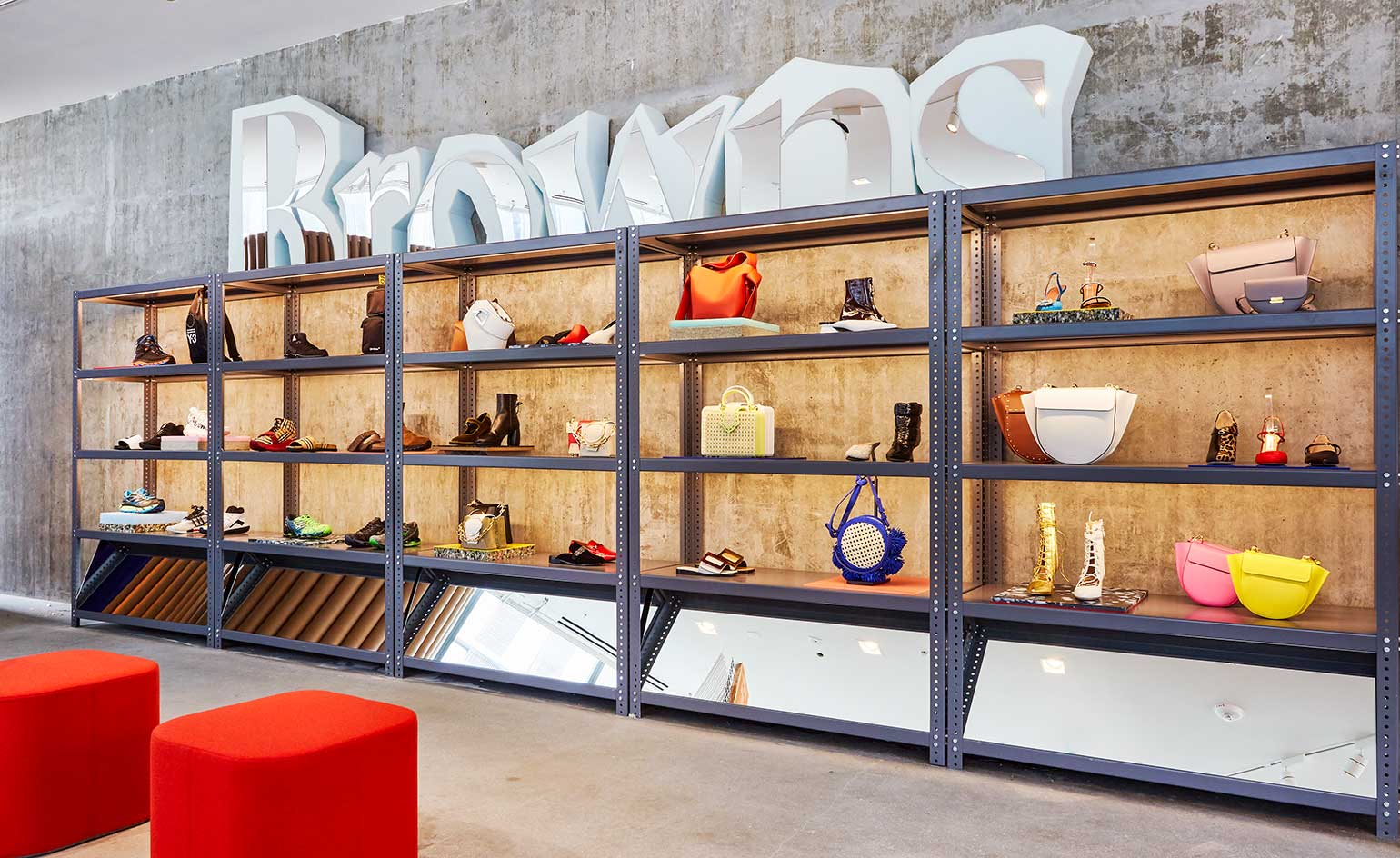 Browns' pop-up space in Fred Segal on Sunset Boulevard, designed by Brinkworth