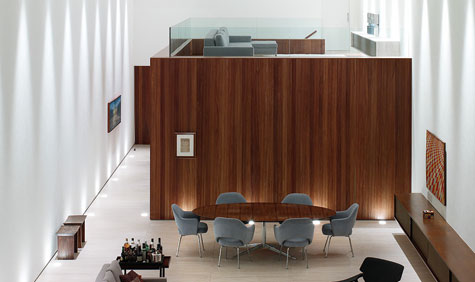 kogan furniture. Plain Furniture Corten House So Paulo By Marcio Kogan Upper View Of The Living Room With Kogan Furniture