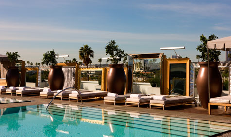 The Roof Top Pool At Sls Hotel Beverly Hills