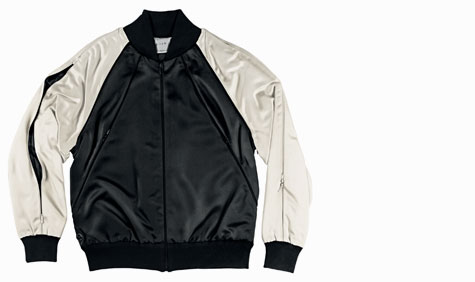 b94bb9874af55 Men s jacket by Marc Newson in a combination of wool, leather and laminated  Gore-