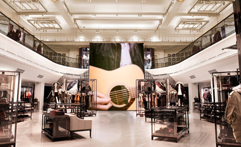 new concept 49a69 3dd78 The digitally enhanced new Burberry flagship store, London ...