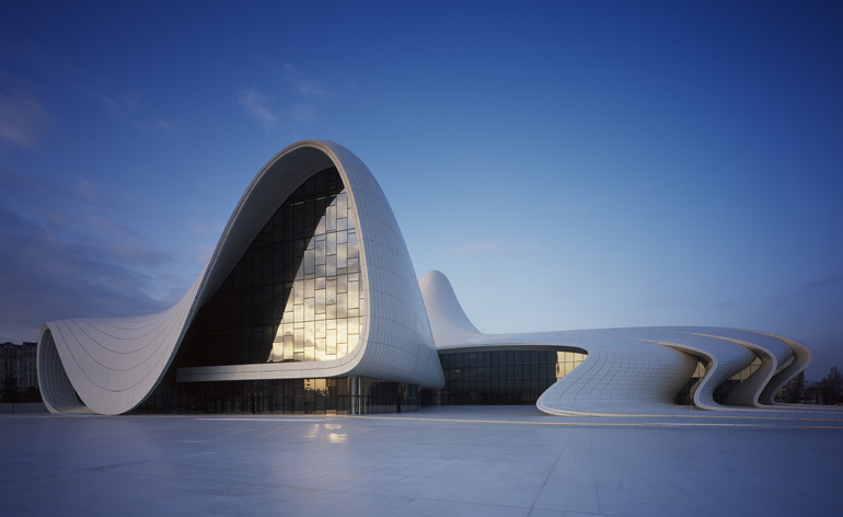 Heydar aliyev centre by zaha hadid in baku wallpaper for Allart center